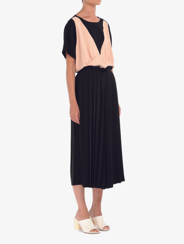 MM6 Black Pleated Wide Leg Pants