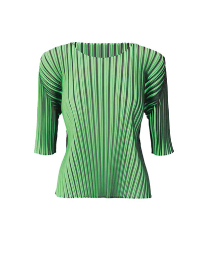 Pleats Please Issey Miyake Green Alt Colour Top