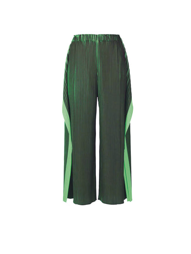Pleats Please Issey Miyake Green Alt Colour Pants