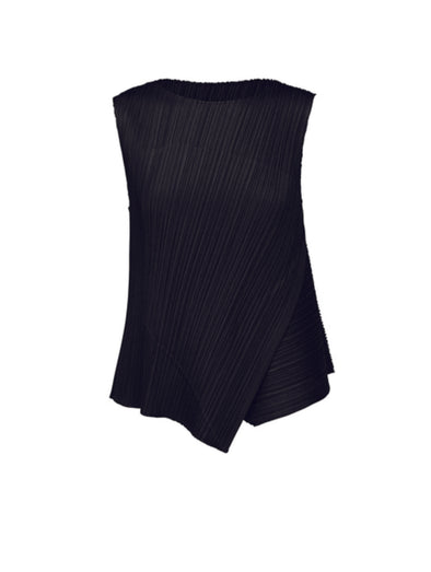 Pleats Please Issey Miyake Black Diagonal Pleats