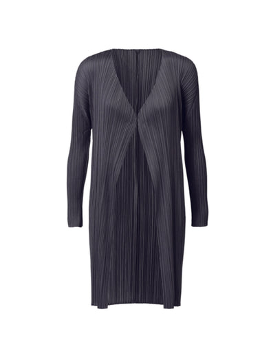 Pleats Please Black Issey Miyake Short Coat