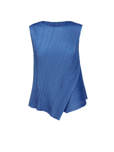 Pleats Please Issey Miyake Blue Diagonal Pleats