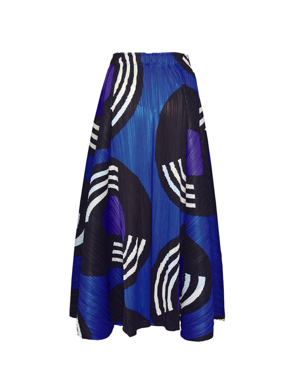 Pleats Please Blue Record Skirt