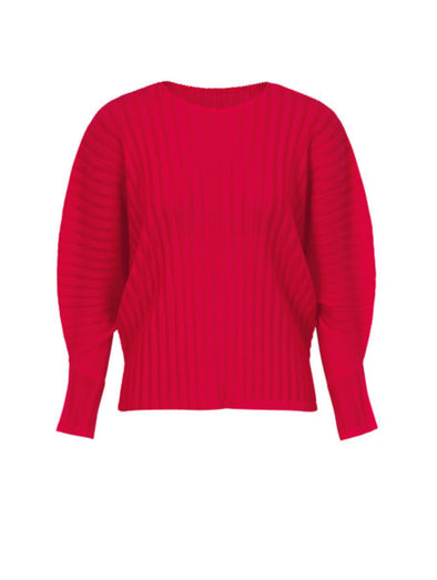 Pleats Please Crimson Rib Pleat Top