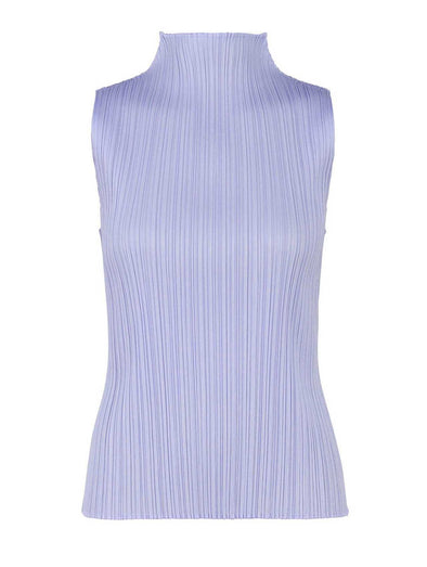 Pleats Please Pale Blue Monthly Colours High Collar Top