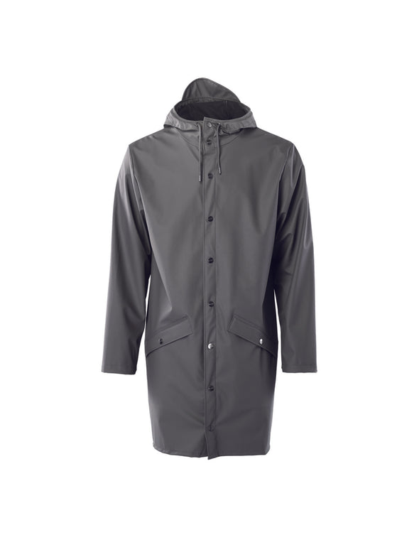 Rains Charcoal Long Jacket