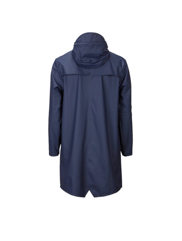 Rains Navy Long Jacket
