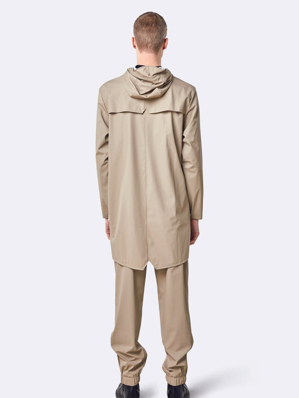 Rains Beige Long Jacket