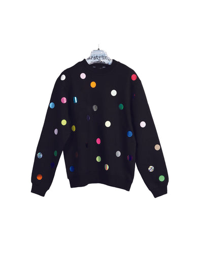Star Styling Black Points Sweater