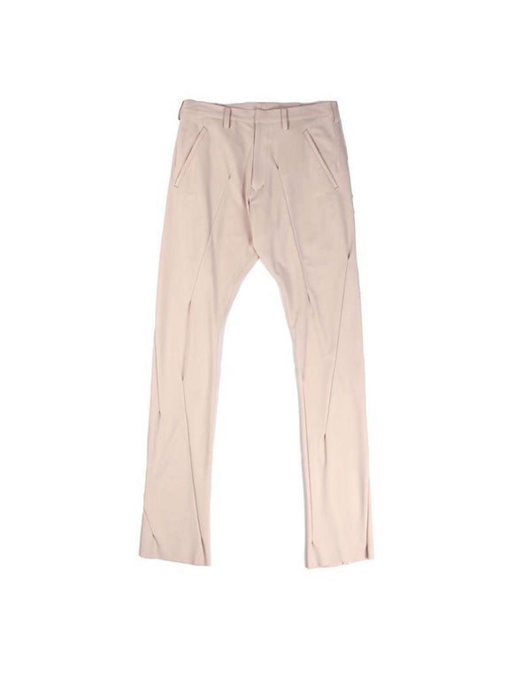 Sulvam Beige Straight Pants