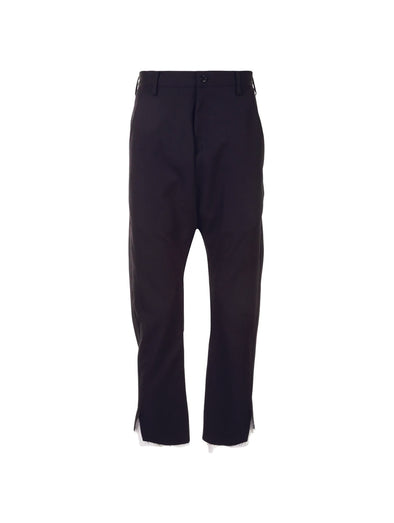 Sulvam Black Garbadine Pants