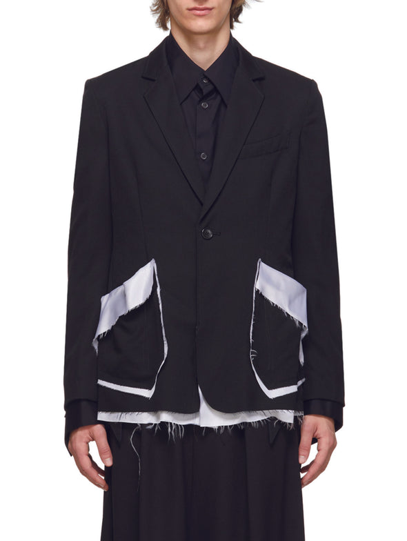 Sulvam Black Garbadine Jacket