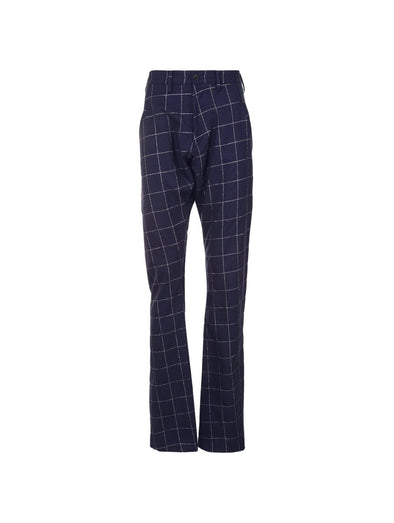 Sulvam Navy Check Darts Pants