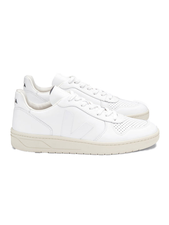 Veja V-10 Leather Extra White White