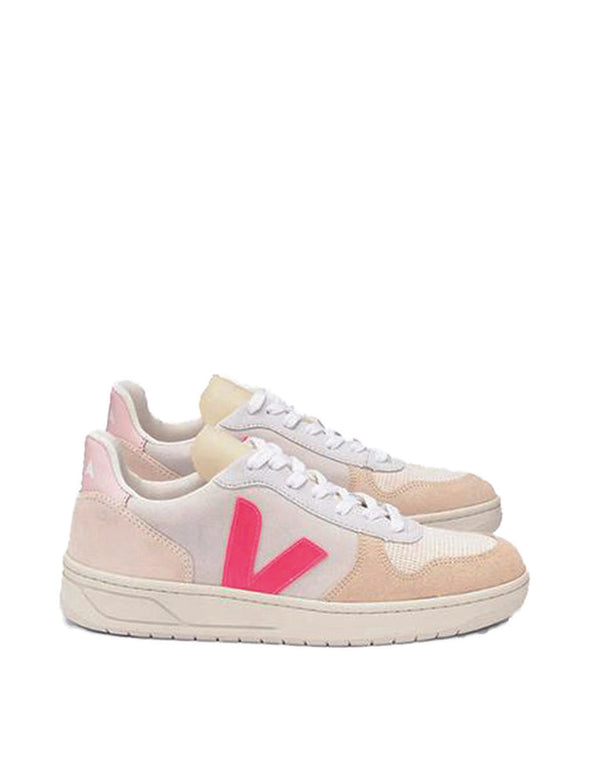 Veja V-10 Suede Multico/Natural/Rose/Fluo