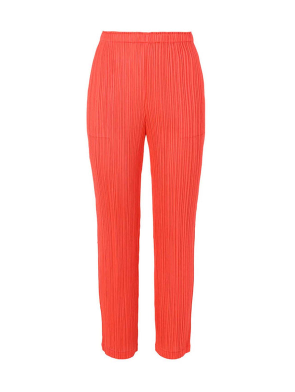 Pleats Please Issey Miyake Bright Red Monthly Colour Pants