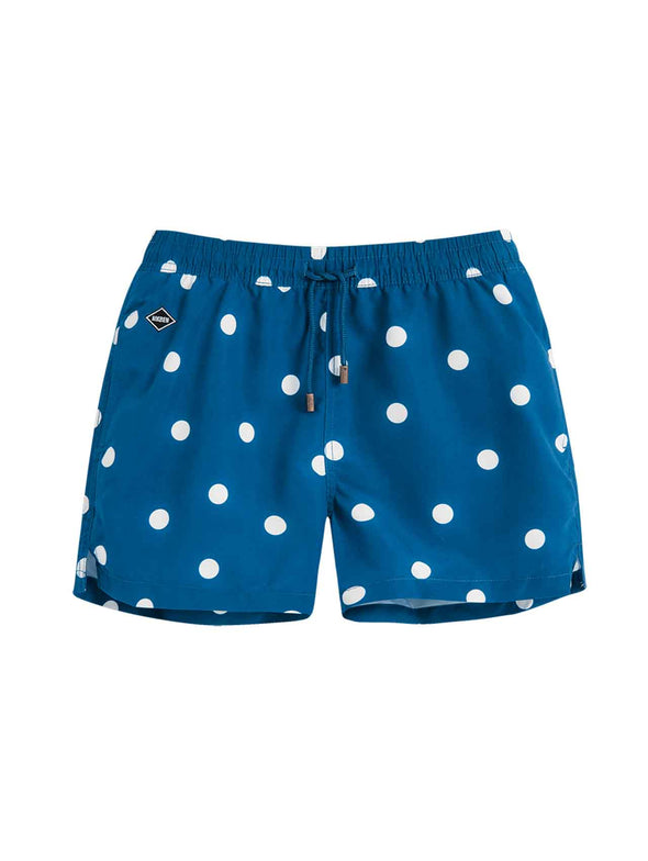 Nikben Denim Blue Dot Board Shorts