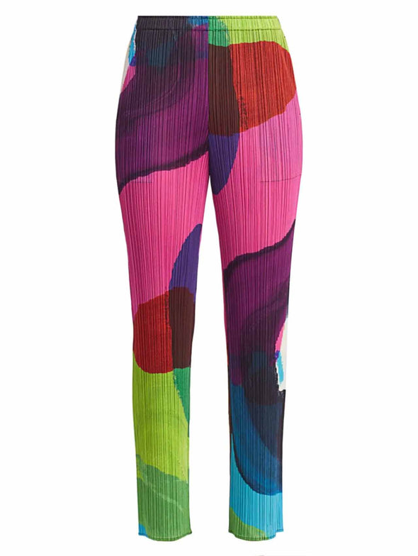 Pleats Please Issey Miyake Energetic Colours Pants