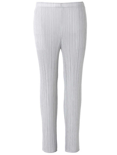 Pleats Please Issey Miyake Light Grey Basic Pants
