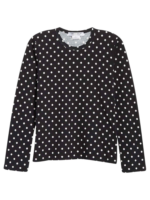 CDG CDG Black Polka Dot Long Sleeve Shirt