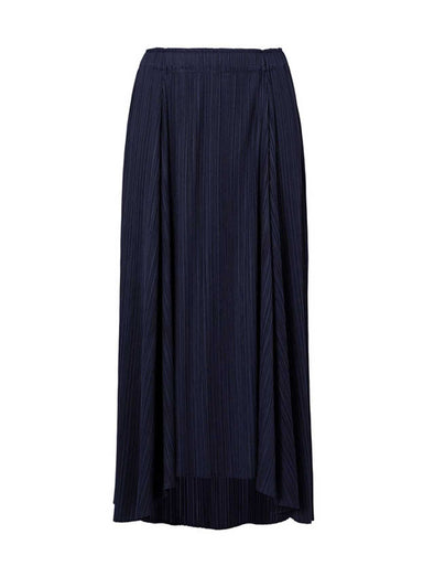 Pleats Please Issey Miyake Navy Sliced Skirt