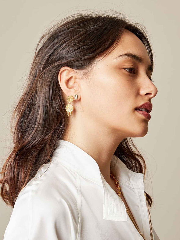 Lucy Folk Solar Halo Earrings