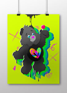 OPN HEART CARE BEAR LIMITED PRINT