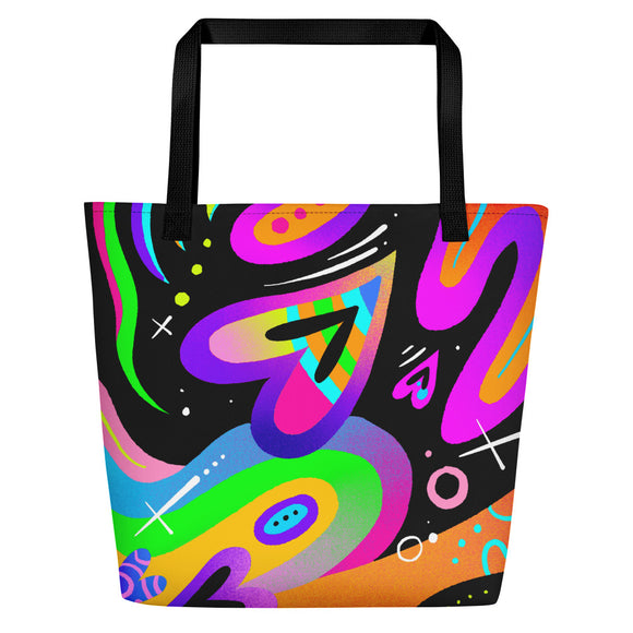 UNDER THE RAINBOW Beach Bag