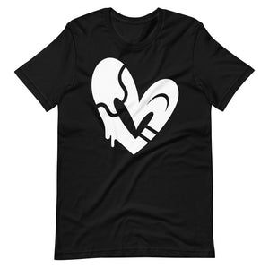 WHITE OPN HEART Short-Sleeve Unisex T-Shirt