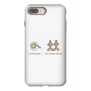 1 cappuccino 50 coffee beans iphone 8 plus hoesjes
