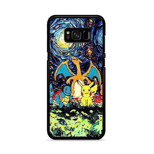 Pokemon Starry Night Samsung Galaxy S8 hoesjes