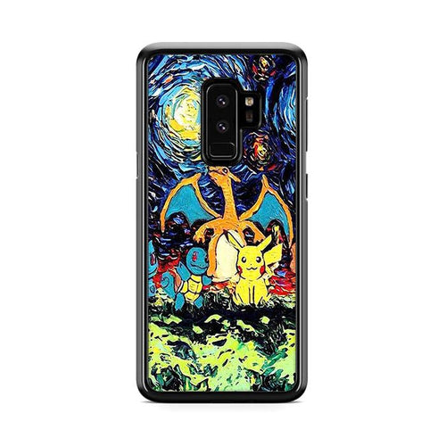 Pokemon Starry Night Samsung Galaxy S9 Plus hoesjes