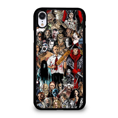coque custodia cover fundas hoesjes iphone 11 pro max 5 6 7 8 plus x xs xr se2020 C21179 HORROR MOVIE COLLAGE iPhone XR Case