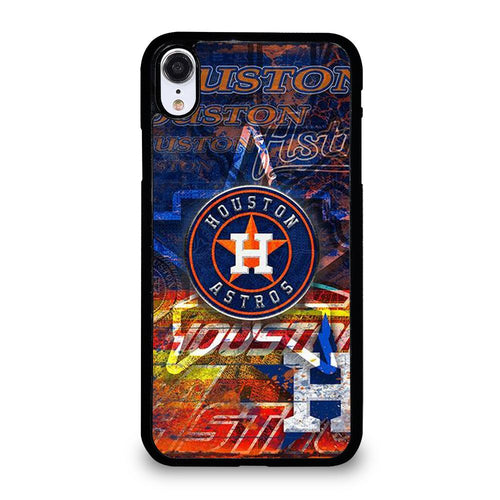 coque custodia cover fundas hoesjes iphone 11 pro max 5 6 7 8 plus x xs xr se2020 C21245 HOUSTON ASTROS MLB ICON 2 iPhone XR Case