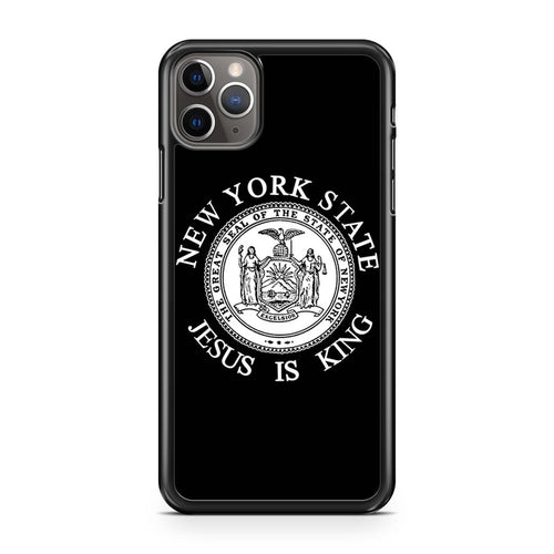 coque custodia cover case fundas hoesjes iphone 11 pro max 5 6 6s 7 8 plus x xs xr se2020 pas cher p10699 Jesus Is King New York State Iphone 11 Pro Max Case