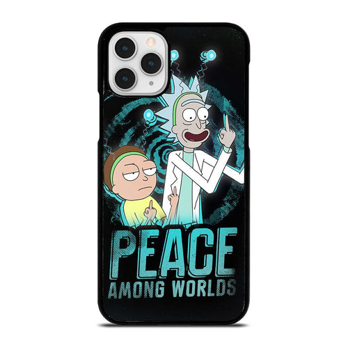 coque custodia cover fundas hoesjes iphone 11 pro max 5 6 7 8 plus x xs xr se2020 C29658 RICK AND MORTY PEACE AMONG WORLDS iPhone 11 Pro Case