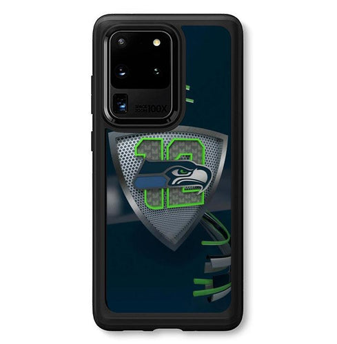 coque custodia cover fundas hoesjes j3 J5 J6 s20 s10 s9 s8 s7 s6 s5 plus edge B34186 Seattle Seahawks 12 FF0242 Samsung Galaxy S20 Ultra Case
