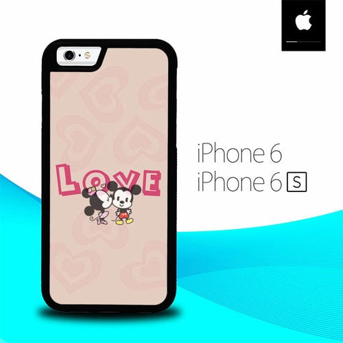 Story Love Mickey  Minnie Mouse O0723 hoesjes iPhone 6, iPhone 6S