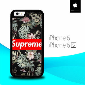 Supreme Black Rose Floral O0774 hoesjes iPhone 6, iPhone 6S