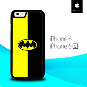 Batman Logo Yellow Black O0778 hoesjes iPhone 6, iPhone 6S