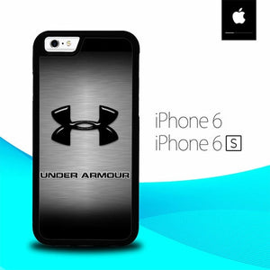 Under Armor Logo Silver O0857 hoesjes iPhone 6, iPhone 6S