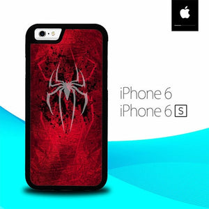 White Logo Spiderman O0873 hoesjes iPhone 6, iPhone 6S