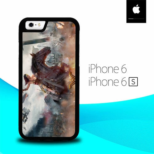 Power Girl Wonder Woman O0877 hoesjes iPhone 6, iPhone 6S