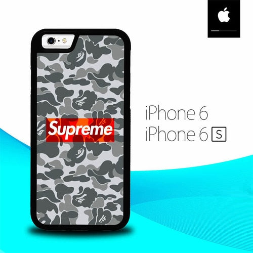 Bathing Ape Supreme O0897 hoesjes iPhone 6, iPhone 6S