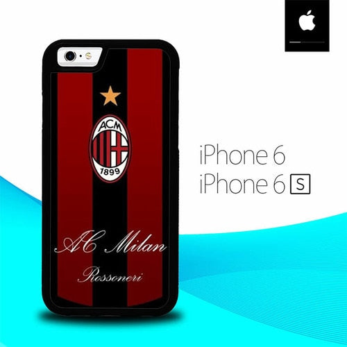 Ac Milan Logo O1204 hoesjes iPhone 6, iPhone 6S