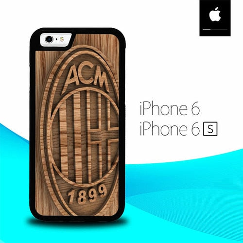 Ac Milan Wood O1207 hoesjes iPhone 6, iPhone 6S