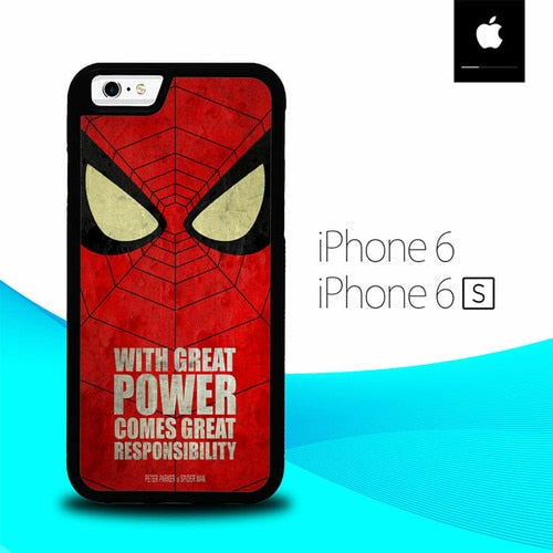 Quotes Spider-man O1255 hoesjes iPhone 6, iPhone 6S