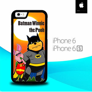 Winnie the Pooh Batman and Piglet robin O3146 hoesjes iPhone 6, iPhone 6S