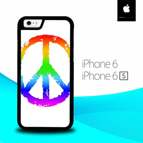 60S Peace Sign Logo O3335 hoesjes iPhone 6, iPhone 6S
