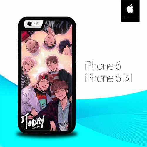 Wanna-One Cartoon Personile O5099 hoesjes iPhone 6, iPhone 6S